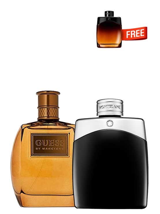 Bundle for Men: Marciano for Men, edT 100ml by Guess + Legend for Men, edT 100ml by Mont Blanc + Legend Night Miniature for Men, edP 4.5ml by Mont Blanc Free!