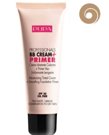 Nude 001 - Professionals BB Cream + Primer Oil Free for Combination to Oily Skin SPF 20 - Moisturizing Tinted Cream + Smoothing Foundation Primer 50ml by PUPA