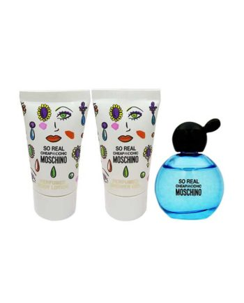 So Real Miniature Gift Set for Women (edT 4.9ml + Perfumed Bath and Shower Gel 25ml + Perfumed Body Lotion 25ml) by Moschino