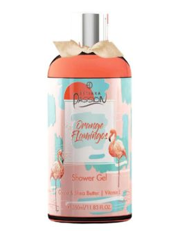 Orange Flamingos Shower Gel Cocoa & Shea Butter with Vitamin E, 350ml by Estiara Passion