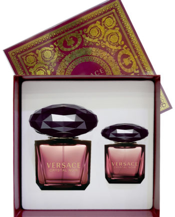 Crystal Noir Gift Set for Women (edT 90ml + edT 30ml) by Versace